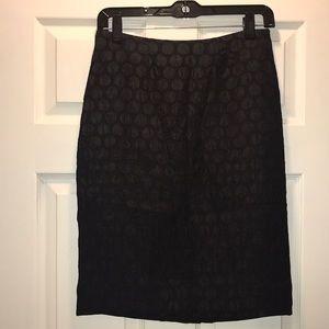 Maeve by Anthro Black Polka Dot Pencil Skirt